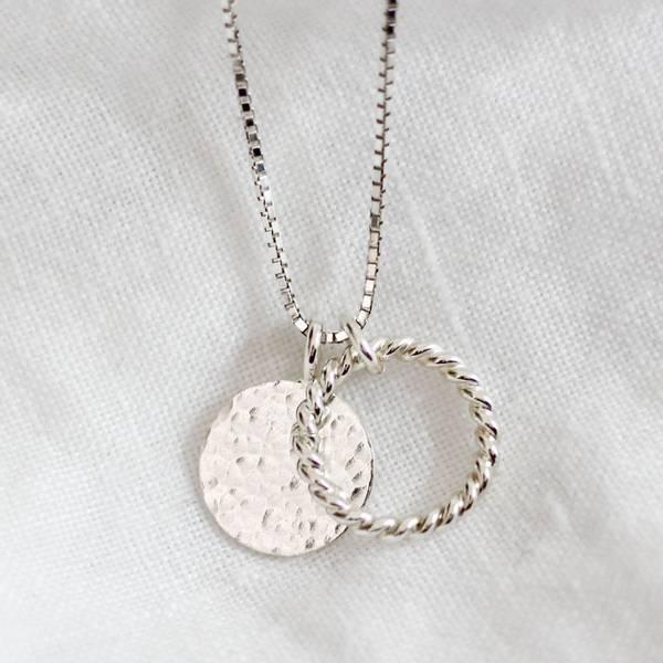 Bilde av Dugg, Halssmykke spire & dugg sølv