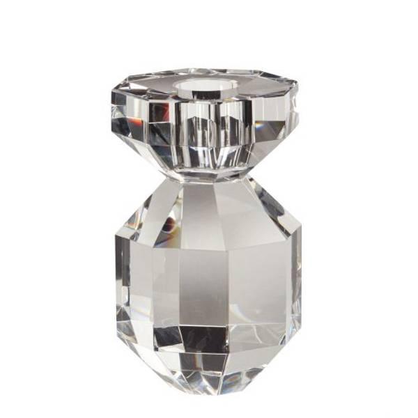Bilde av Hübsch Lysestake krystall - Klar